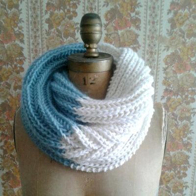 Knitting Pattern Infinity Scarf Cowl by ILiveonaFarm