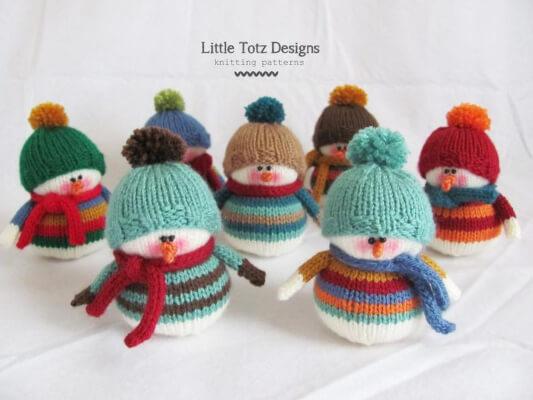 Little Frosty Knitted Snowman Pattern by LittleTotzDesigns