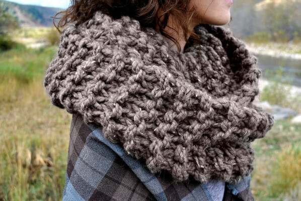 Outlander cowl Knitted Infinity Scarf by PiperPurls