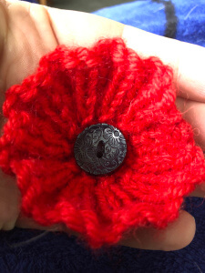 Remembrance Day Poppy Knitted Pattern by The Knit Guru