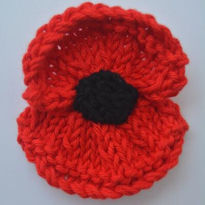 Remembrance Free Poppy Knitting Pattern