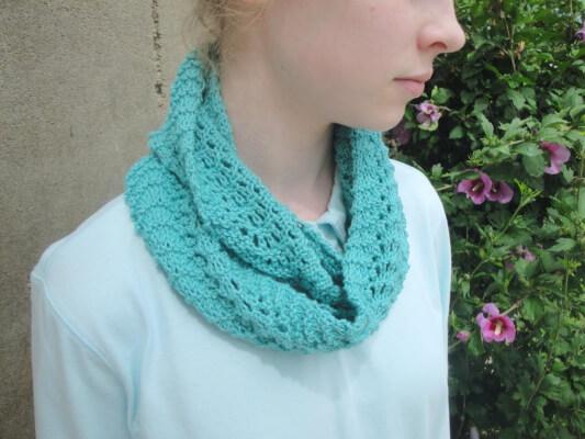 Rippling Infinity Scarf Knit Pattern by GirlpowerDesigns