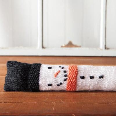 Snowman Draft Stopper Pattern by Robin Allen