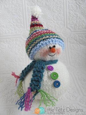 Snowman Knitting Pattern by LittleTotzDesigns