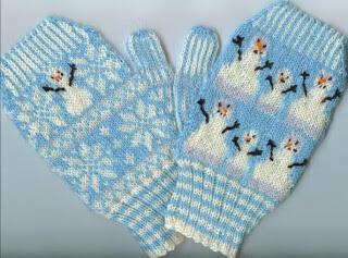 Stranded Mittens Snowman Free Knitting Pattern from Kathleen Taylor's Dakota Dreams
