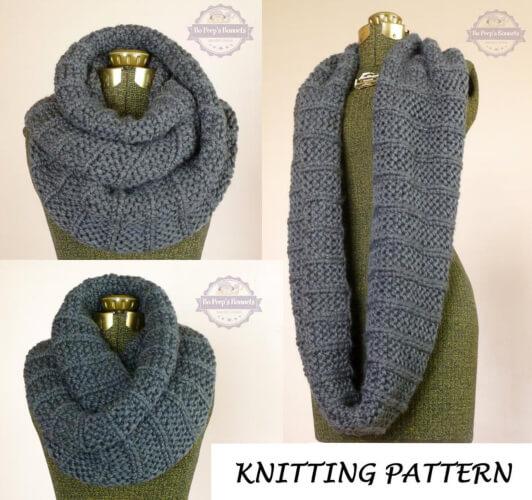 The Celebrity Infinity Scarf Knit Pattern by BoPeepBonnets