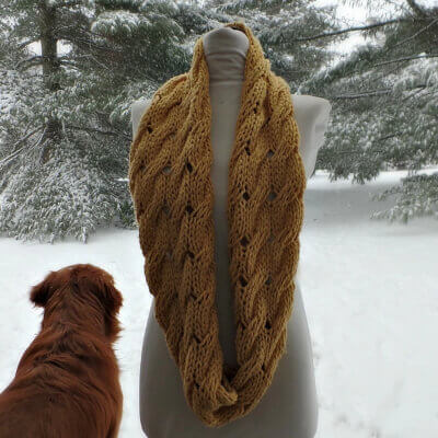 Willow Knitted Infinity Scarf by Sierra Morningstar
