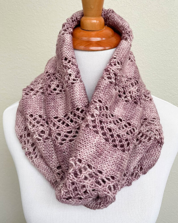 Dart Cowl Scarf Knitting Pattern by KnitELement