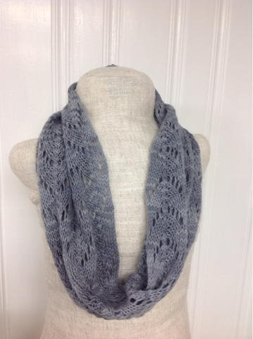 Dove Gray Knitted Cowl Pattern by Alyssa Titus
