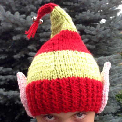 Elf Ears Jingle Bells Hat Pattern by ByLadyshipDesigns