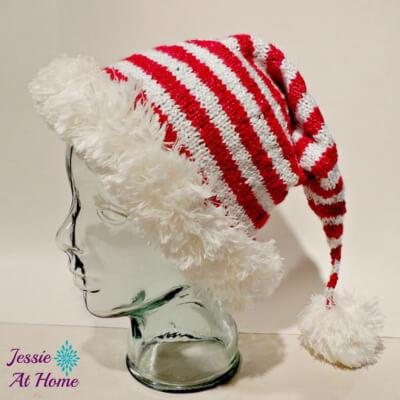 Jolly Elf Hat Knitting Pattern Free by Jessie Rayot