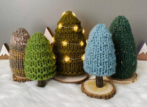 Knit Christmas Tree Pattern by FirFoodArtShop