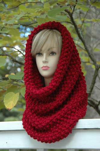 Oversized Easy Knit Cowl Scarf Pattern by Phylphil
