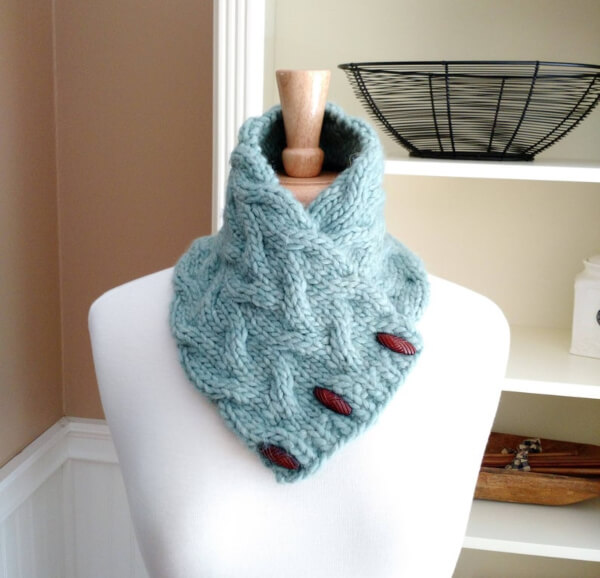 Quick Easy Knit Cowl Scarf Pattern by lavenderhillknits