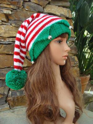 Santa's Elf Hat Knitting Pattern by IKnit4aCure