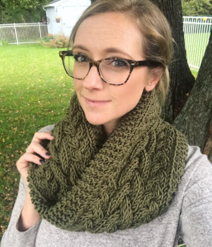 Trinity Infinity Cowl Knitting Pattern by Lizzy Knits Shop