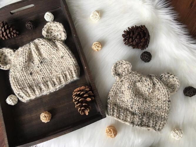 Bear Cub Knit Hat Pattern by NorthMountainKnitsco