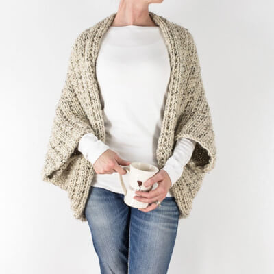 Beginner Scoop Knitted Shrug Pattern by Brome Fields