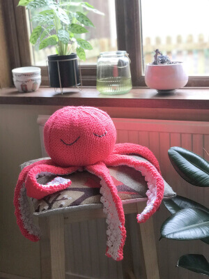 Big Friendly Octopus Knitting Pattern by GiftHorstKits
