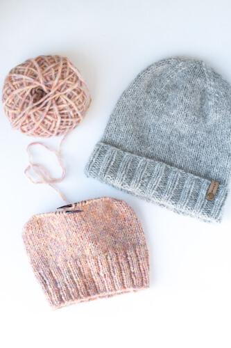 Birchwood Easy Knit Beanie Pattern by Woolly Bear Knit