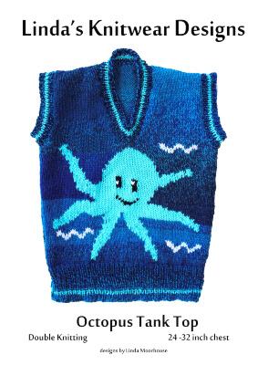 Children's Octopus Motif Sweater Knitting Pattern by KnitaPattern