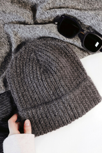 Double-Brim Beanie Knitted Pattern by DarlingJadore