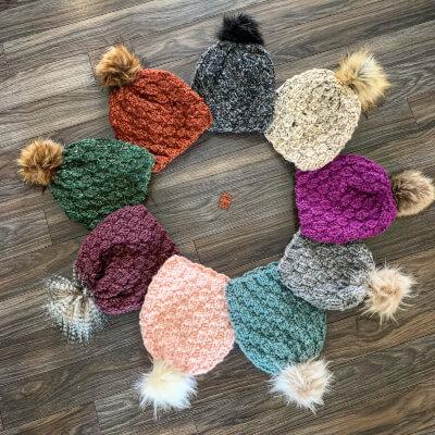Easy Knit Beanie Pattern by Pretty Little Purls