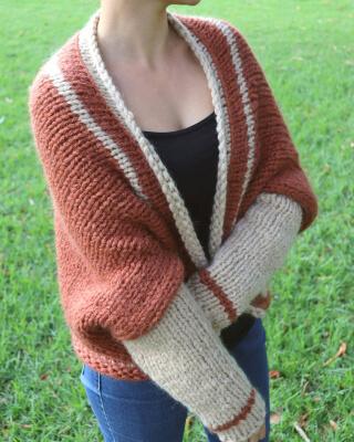 Easy Shrug Knitting Pattern by FluffyStitchesShop