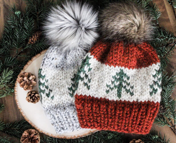 Evergreen Knitted Beanie Pattern by AlpineKnitsCo
