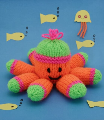 Free Octopus Knitting Pattern from Knitting by Post