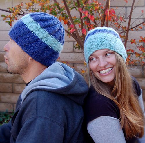His + Hers Knit Hats by Purls Soho
