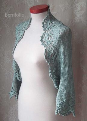 ICE Knit & Crochet Shrug Pattern by BernioliesDesigns