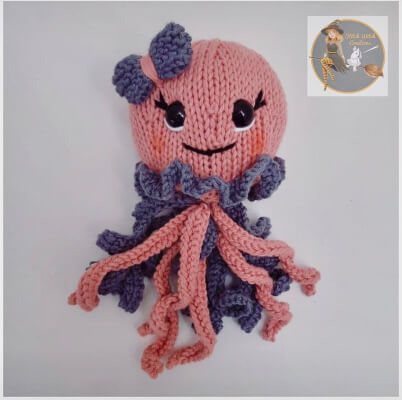 Jellyfish Octopus Knitting Pattern by StitchWitchCreations