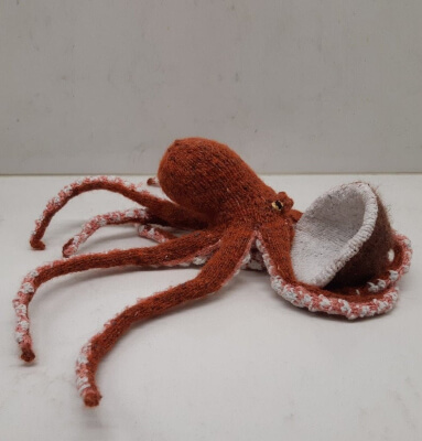 Knitted Octopus & Coconut Pattern by AnimalKnitdom