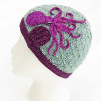 Knitted Octopus in the Shallows Beanie by JoansGarden