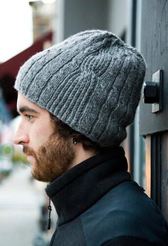 Knitting Pattern for Men's Hat - Bartek by Woolibear