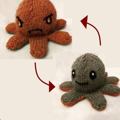 Reversible Octopus Knitting Pattern by CloakFolk