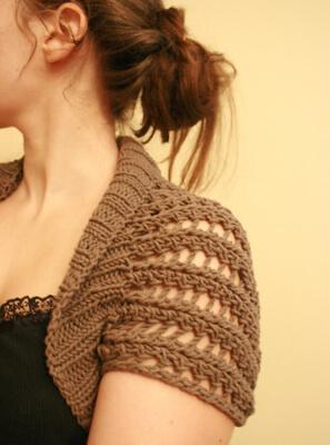 Ribbed Lace Bolero by Kelly Maher