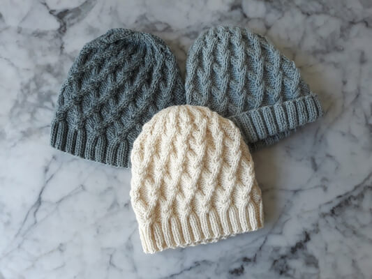Salthill Beanie Knitting Pattern by Aran Accessories
