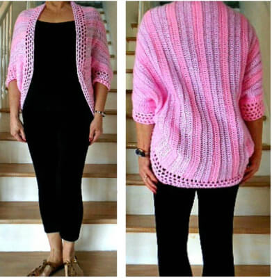 Sleevie Wonder Wrap Shrug Scarf Knit Pattern by HectanoogaPattern