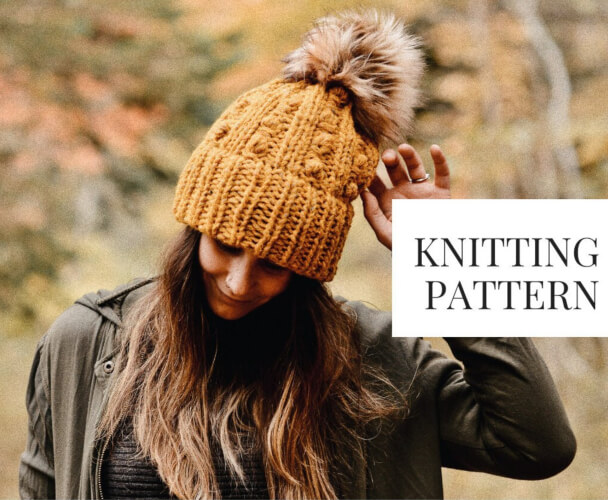 Summerville Trail Beanie Knitted Pattern by Knit Brooks