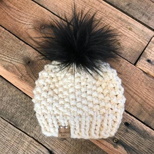 The Cambria beanie Knitting Pattern by ThreadHead Knits Co