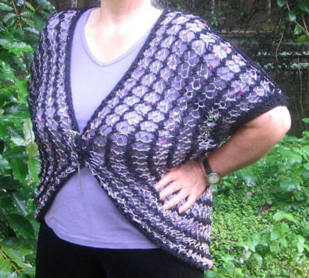 The Four L Knitted Shrug Pattern by Rian Anderson