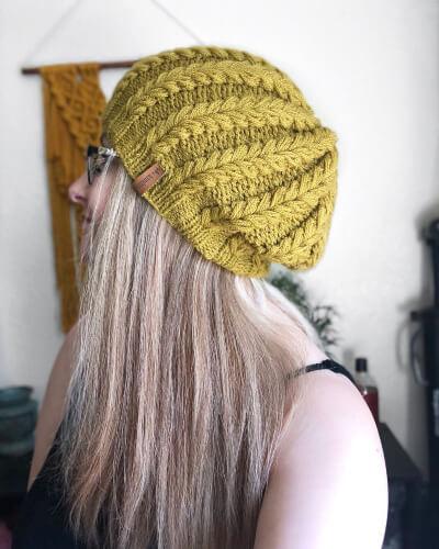The Mira Beanie knitting pattern by TheAislingStudio