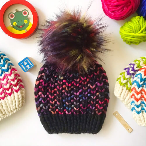 The Riverbend Beanie Knitting Pattern by Aspen Leaf Knits