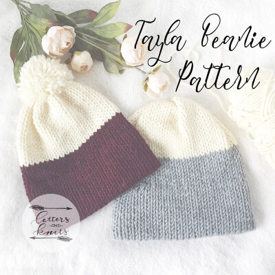 The Tayla Beanie Knitted Pattern by Letters and Knits