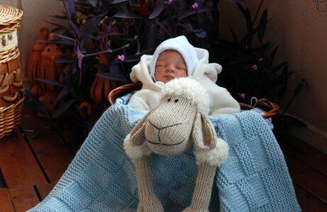 Baby Sheep Toy Blanket Knitting Pattern by deniza17