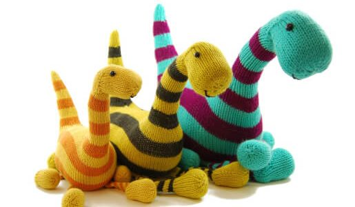 Basil the Boogie-Woogie Brontosaurus Knitting Pattern by Danger Crafts