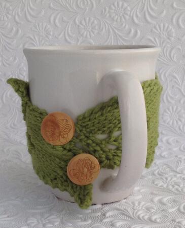 Buttoned Leaf Cuddler Pattern by KnitKaboodleDesigns