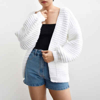 Chunky Easy Long Cardigan Knitting Pattern by DaisyAndPeace